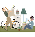 Moving in together vector image