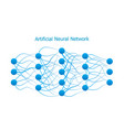 neural network model with real synapses vector image