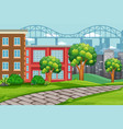 outdoor urban landscape scene vector image vector image