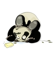 panda rests on his head vector image vector image
