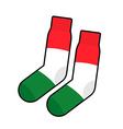 Patriot socks Italy Clothing accessory Italian vector image vector image