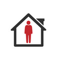 people quarantine icon stay at home vector image