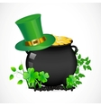 pot with gold vector image vector image