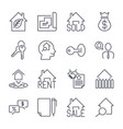 real estate realtor deals icon set for sale and vector image vector image