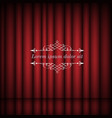 red curtains and vintage border frame with copy vector image vector image