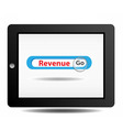 Revenue search on ipad vector image vector image