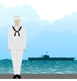 Sailors of the US Army vector image vector image
