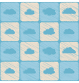 Seamless background with clouds vector image
