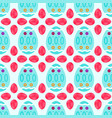 seamless pattern of watery easter eggs with vector image