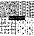 Set of four monochrome geometrical patterns vector | Price: 1 Credit (USD $1)