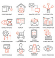 Set of icons related to business management - 18 vector image vector image