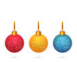 shining christmas toys isolated on white vector image