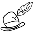 simple black and white hat vector image vector image
