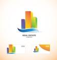 Skycraper real estate building logo icon vector image vector image