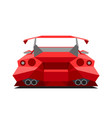 sports red car isolated on white background rear vector image vector image