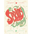 Spring is coming lettering vector image vector image