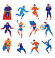 superhero character set vector image