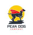 superhero dog animal logo design vector image vector image