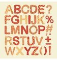 Textured Alphabet Set vector image