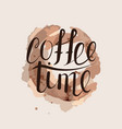 the text coffee time vector image