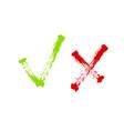 tick icon set stylish check mark icon set in vector image vector image