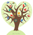 Tree of love vector | Price: 1 Credit (USD $1)