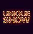 unique show banner sign for traditional vector image vector image