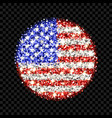 usa flag sparkling badge vector image