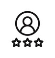 user rating icon vector image