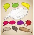 Vintage scratched speech bubbles clip-art vector image