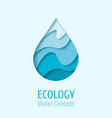 water drop ecology logo design template vector image vector image