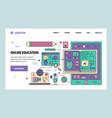 web site linear art design template online vector image vector image