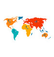 world map with statistical data about population vector image vector image