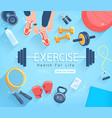 young people doing workout sport fitness banner vector image