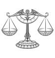 zodiac libra drawn in entangle style vector image vector image