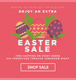 easter sale conceptual banner nest with decorated vector image