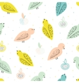 seamless pattern with birds and fruits vector image