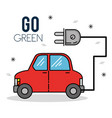 eco car green energy design vector image