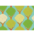 seamless pattern with beautiful trees - vector image