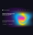 abstract colorful landing page template vector image