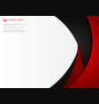 abstract gradient red and black tech template vector image vector image