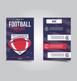 american football flyer sports party night layout vector image