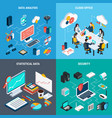 big data 2x2 design concept vector image vector image