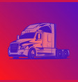big truck red colour blue vector image vector image