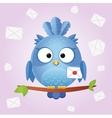 bird letter vector image vector image
