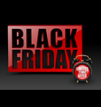 black friday red wall on black background vector image vector image
