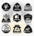black vintage active leisure labels set vector image vector image