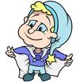 Blue Little Dwarf vector image vector image