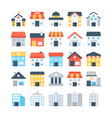 Building Colored Icons 6 vector image vector image