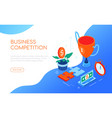 business competition - modern colorful isometric vector image